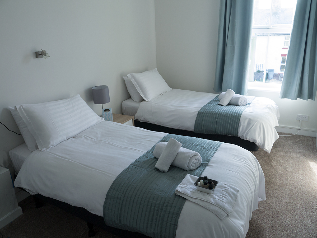 Twin Hotel Room, Longstone House Hotel, Seahouses